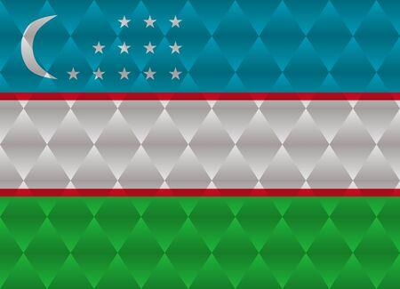 oezbekistan: uzbekistan low poly flag