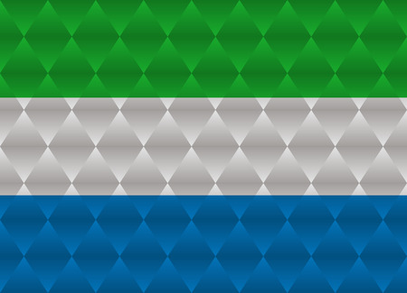 sierra leone: sierra leone low poly flag Illustration