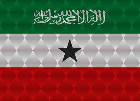 somaliland: somaliland low poly flag Illustration