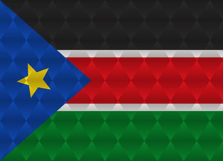 sudan: south sudan low poly flag