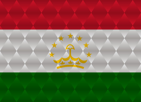 tajikistan: tajikistan low poly flag Illustration