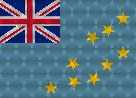 tuvalu: tuvalu low poly flag