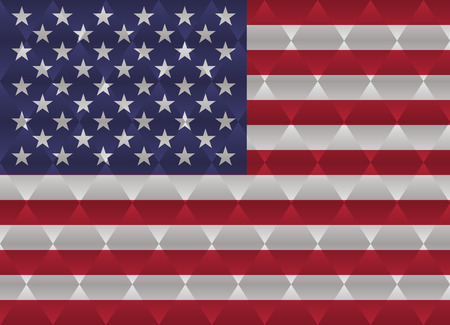 the united states: united states low poly flag