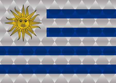 uruguay: uruguay low poly flag