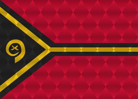vanuatu: vanuatu low poly flag