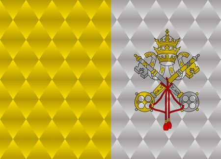 vatican city: vatican city low poly flag