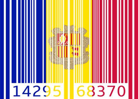 andorra: bar code flag andorra Illustration