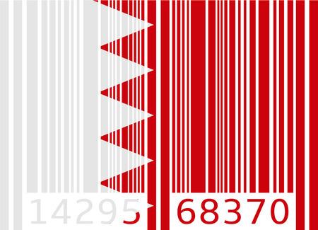 bahrain: bar code flag bahrain