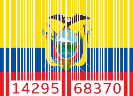 ecuador: bar code flag ecuador Illustration