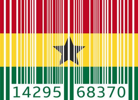 ghana: code barre drapeau ghana