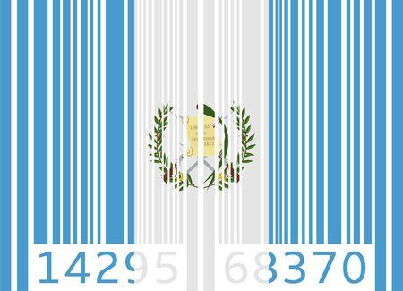 guatemala: bar code flag guatemala