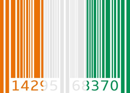 ivory: bar code flag ivory coast