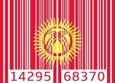 kyrgyzstan: bandera de código de barras Kirguistán