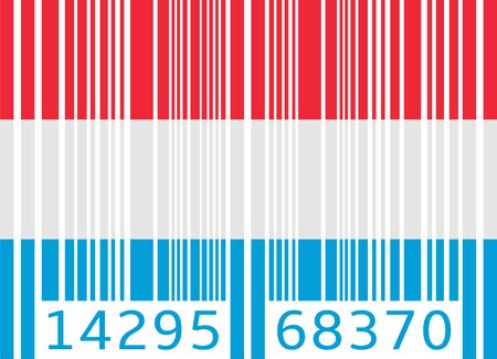 bar code flag luxembourg Vector