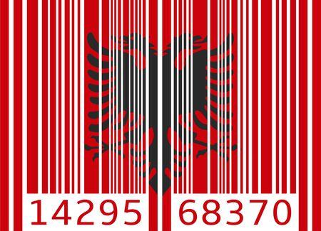 albanie: code barre drapeau albanie