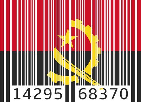 angola: bar code flag angola