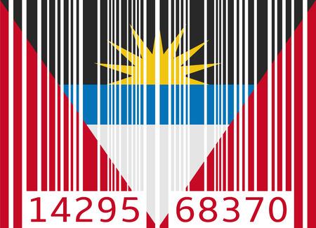 antigua and barbuda: bar code flag antigua and barbuda