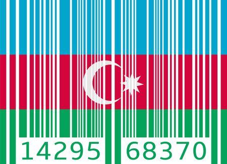 azerbaijan: bar code flag azerbaijan