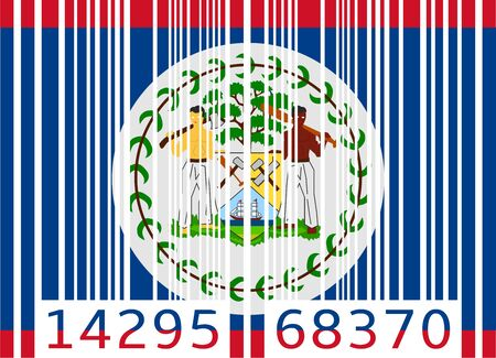 bar code flag belize Vector