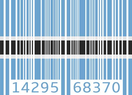 code bar: bar code flag botswana