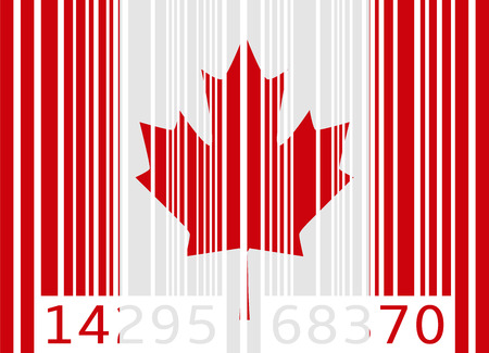 bar code flag canada Vector