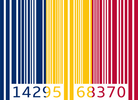 code bar: bar code flag chad