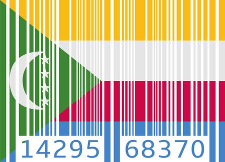 comoros: bar code flag comoros