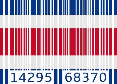 costa rica: bar code flag costa rica