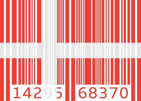 code bar: bar code flag denmark