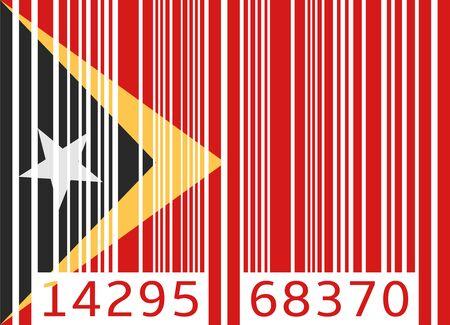 east: bar code flag east timor Illustration
