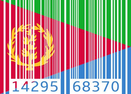 eritrea: bar code flag eritrea