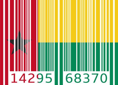 guinea bissau: bar code flag guinea bissau