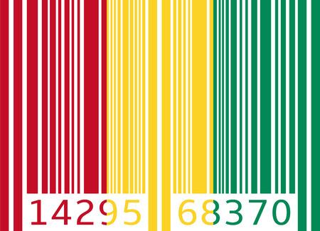 guinea: bar code flag guinea
