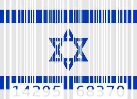 flag of israel: bar code flag israel