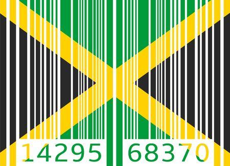 code bar: bar code flag jamaica