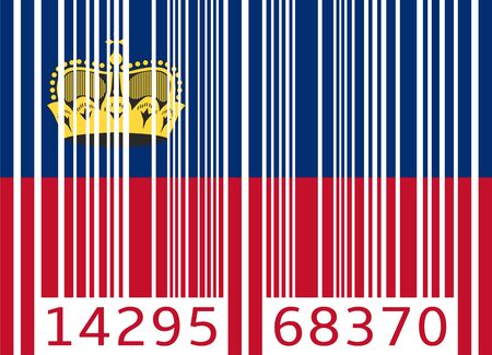 liechtenstein: bar code flag liechtenstein