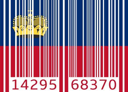 code bar: bar code flag liechtenstein