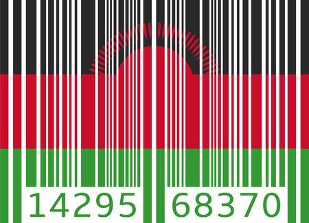 malawi: bar code flag malawi Illustration