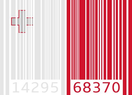 malta: bar code flag malta Illustration