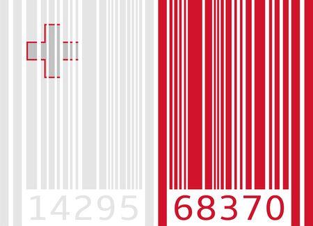 malta: barcode vlag malta