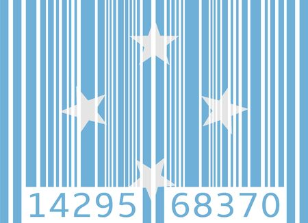 code bar: bar code flag micronesia
