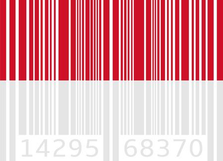 monaco: bar code flag monaco