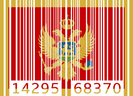 montenegro: bar code flag montenegro Illustration