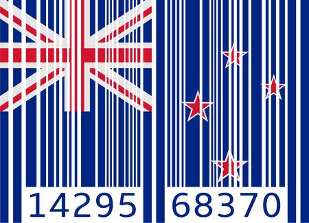 bandera de nueva zelanda: bar bandera código nueva zelanda Vectores