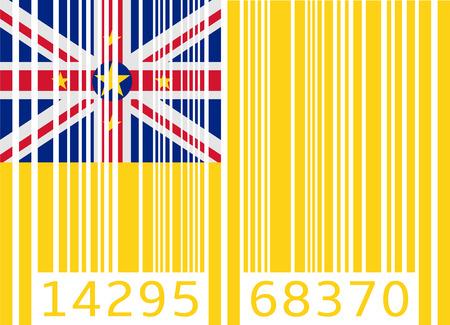 niue: bar code flag niue