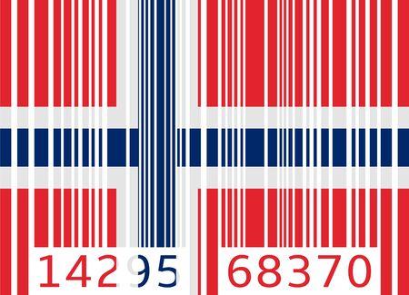 code bar: bar code flag norway