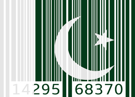 flag of pakistan: bar code flag pakistan
