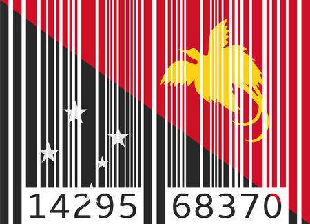 papouasie: code barre drapeau Papouasie Nouvelle Guin�e