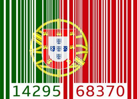 bandera de portugal: bandera de c�digo de barras portugal