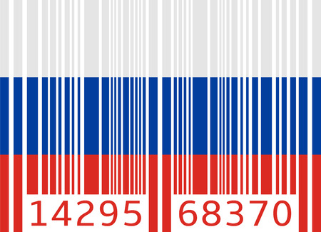 code bar: bar code flag russia